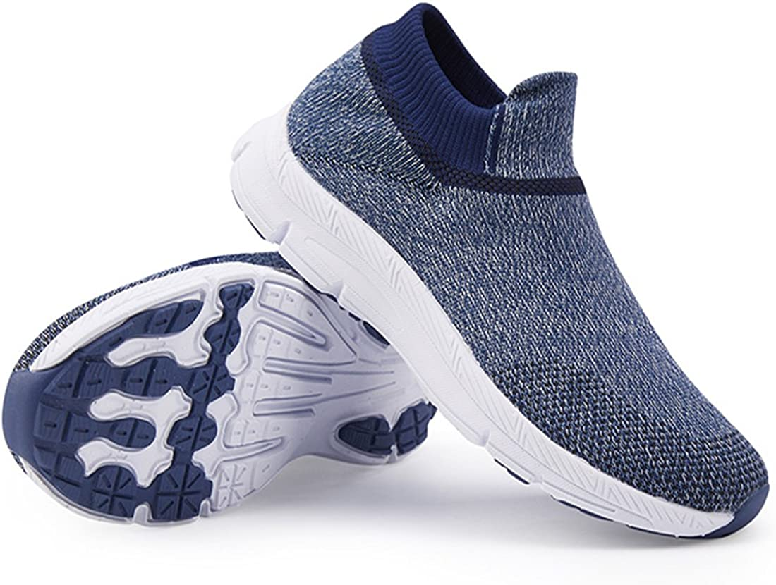 Flyknit Sock Shoes Kids Boys Girls High Top Slip On Walking Trainers Breathable