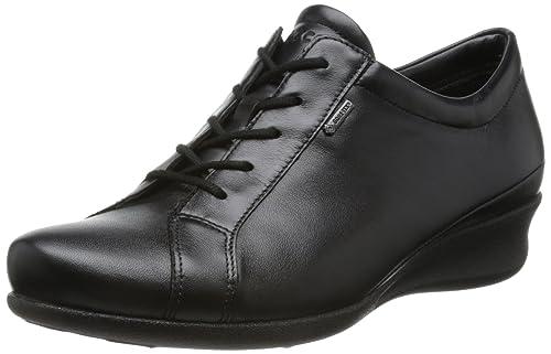 Ecco 2.0 Souples - Chaussures En Cuir À Lacets, Femme, Noir, Taille 40