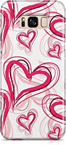 Samsung S8 Case Cute Heart Pattern Gift For Loved Ones, Great For Girls Sleek Finish Durable Samsung S8 Cover Wrap Around 6