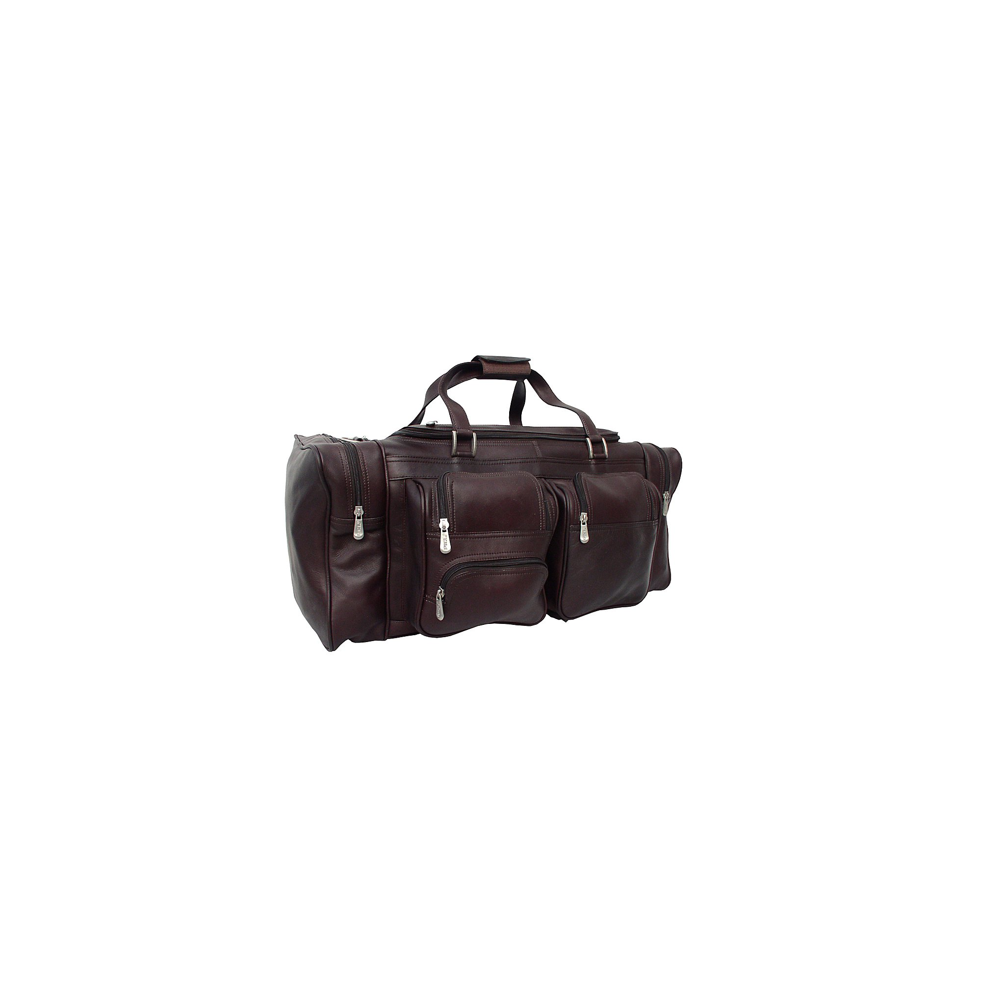 Piel Leather 24In Duffel with Pockets, Chocolate, One Size by Piel Leather (Image #1)