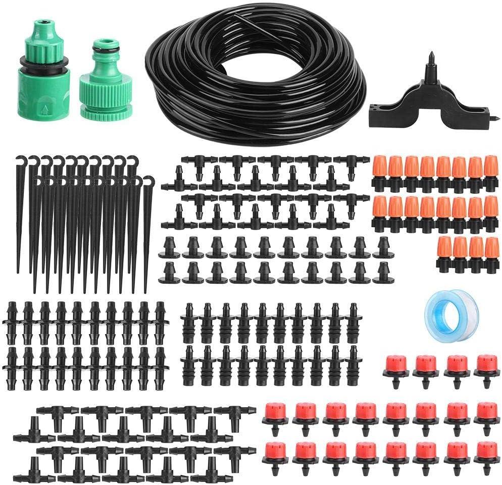 Yosoo123 20M Drip Irrigation System Automatic Irrigation Drip Kit for Garden Watering Irrigation System Garden Spray Hose Kits for Flower Bed, Patio, Atrium