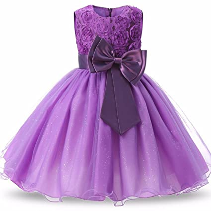 7129d4737 BTCD Fashion Design Flower Kids Girl Dress Princess Formal Pageant ...