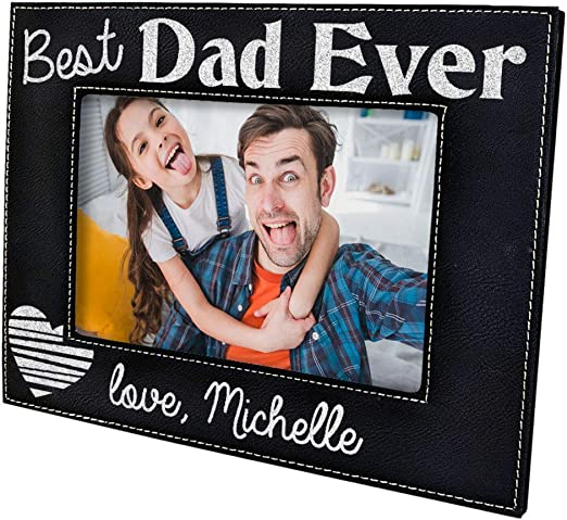 """New Daddy and Me Picture Frame Silver Dad Baby Son Daughter Father 6x4/"""" Photo"""