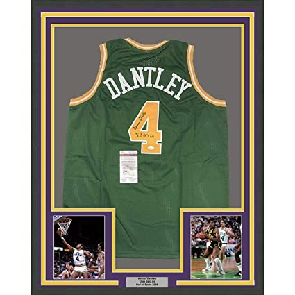 52ccb7f6aa215 Image Unavailable. Image not available for. Color: Adrian Dantley Signed  Jersey ...