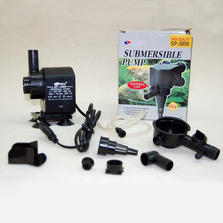 Pompa sommergibile per gioco di acqua, fontana, cascata, acquario, tipo W6 3800 (21325)