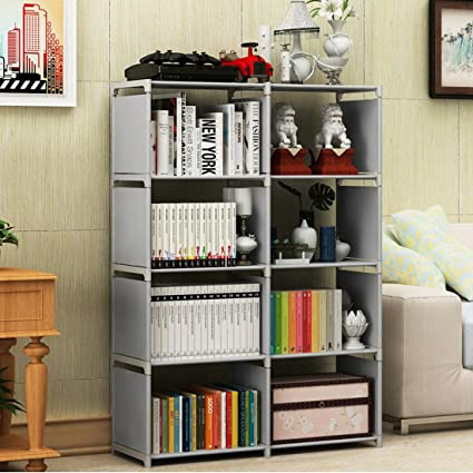 Superbe Komost Storage Shelves Organizer, 8 Cube Closet Organizer Cabinet Bookshelves  Bookcase, Multipurpose Display Storage