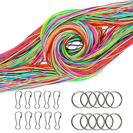 Amazon.com: FOGAWA 12 colores Scoubidou cuerdas 120 piezas ...