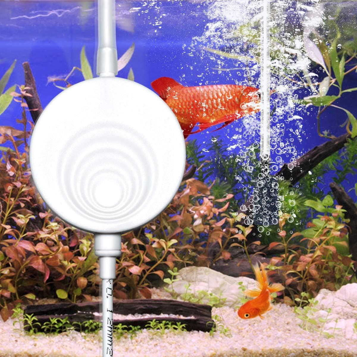 MVPower Aquarium Luftpumpe leise Sauerstoffpumpe 300mL//M Ausströmer Oxygen Pumpe Belüfter für Aquarien
