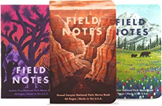 product image for Field Notes: National Parks Series (Series B - Grand Canyon, Joshua Tree, Mount Rainier) - Graph Paper Memo Book 3-Pack - 3.5 x 5.5 Inch