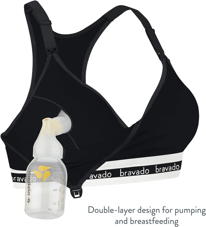 DESIGNS Damen All-in-One Hands-Free Original Pump BRAVADO und Still-BH aus Baumwoll-Modal