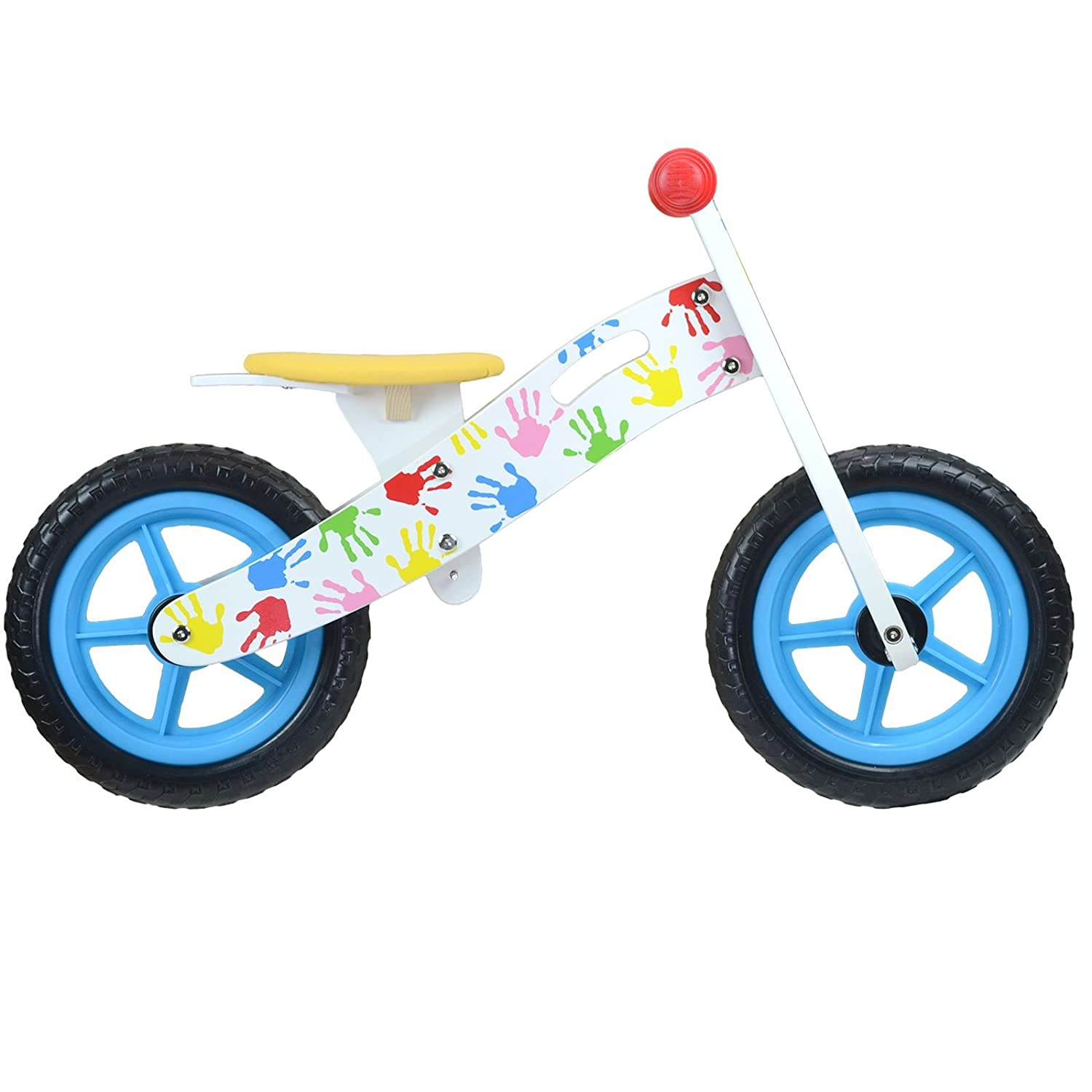 Amazon.com: Boppi Kids Wooden Balance Bike - 3, 4 and 5 Years - Hand Print: Toys & Games