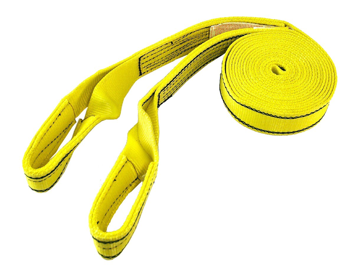 PROGRIP 152 Medium Duty Tow and Recovery Strap with Flat Webbing with Reinforced Loop: 20' x 2'' (20,000 lbs MBS)