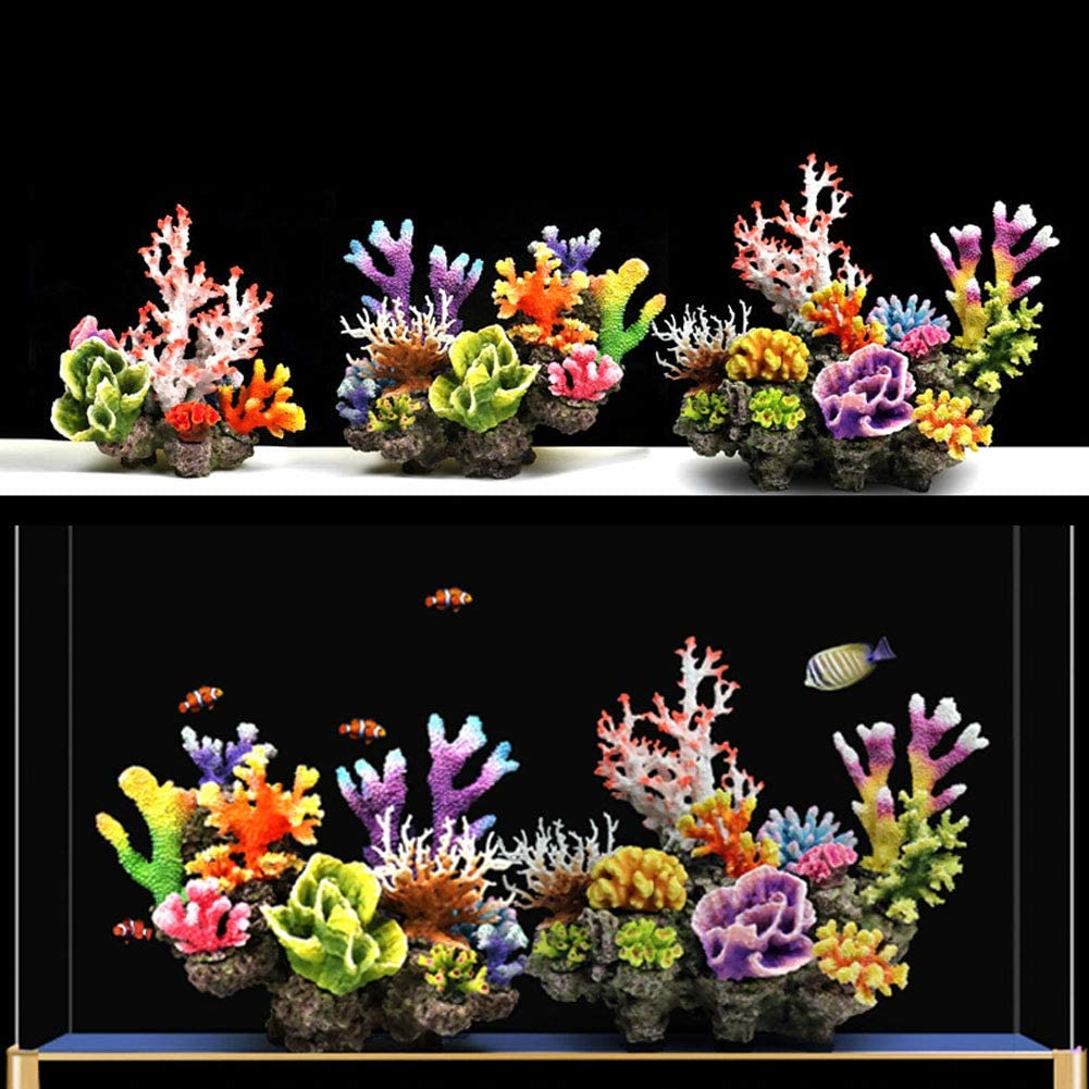 Aquarium Deko kunst Koralle künstliches Korallenriff Korallen Silikon Dekor bunt AquaOne