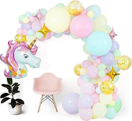 "Girls Pastel /& Gold Foil UNICORN SPARKLE 18/"" Foil Balloon"