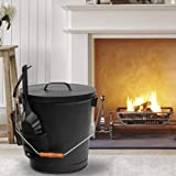F2C 5.15 Gallon Ash Bucket with Lid and Shovel