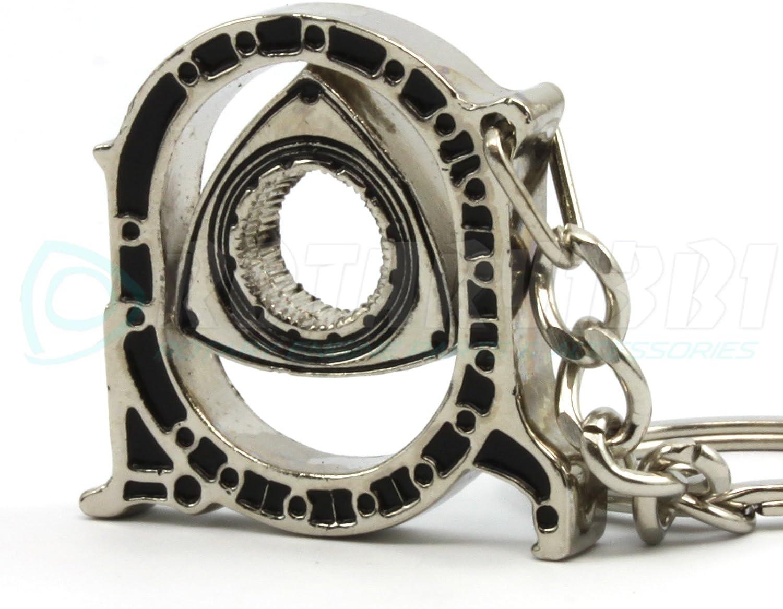 Rotary13B1 Rotary Engine Housing Key Chain Nickel Plated