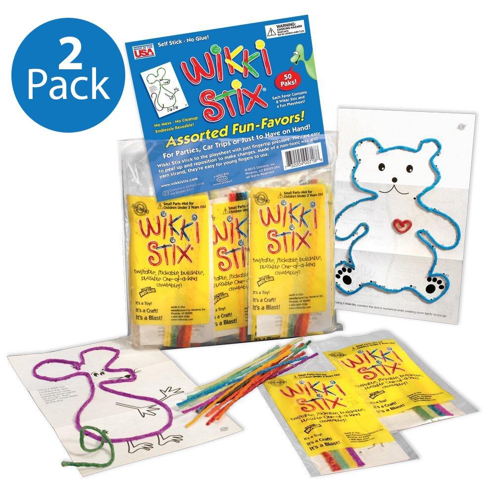 Wikki Stix Fun Favors - 2 Assorted Packs of 50 - 100 Count
