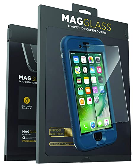 competitive price 34411 a9d57 Magglass Tempered Glass Screen Protector for Lifeproof Nuud Case - iPhone 7  Plus 5.5 (Case is not Included)