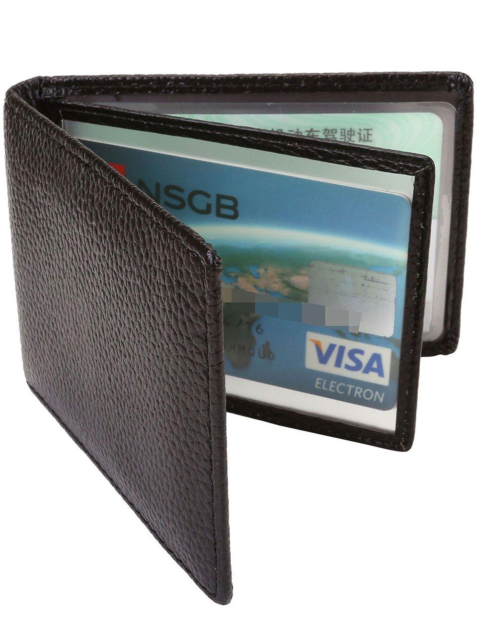 Ayliss RFID Blocking Leather Wallet Slim Minimalist Pocket Wallet Card Holder,Black