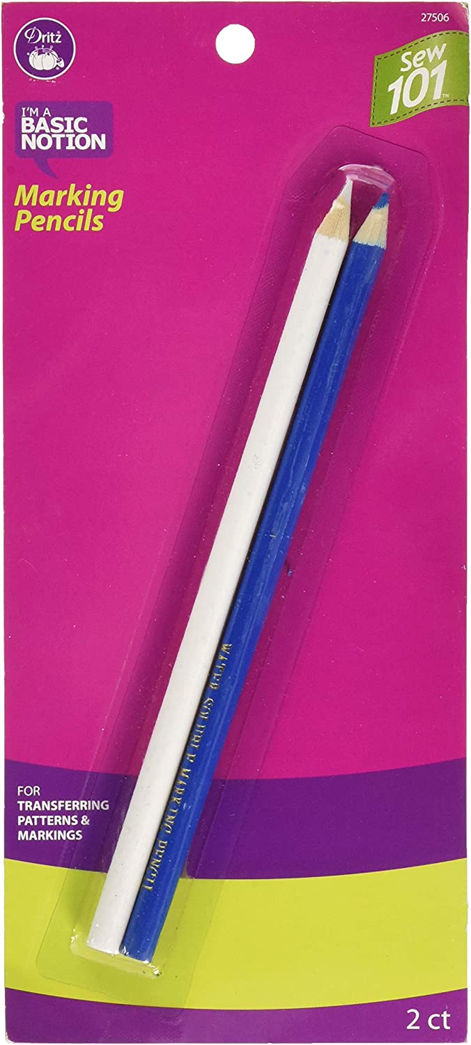 Dritz Combo Marking Pencils, Blue, white: Arts, Crafts & Sewing