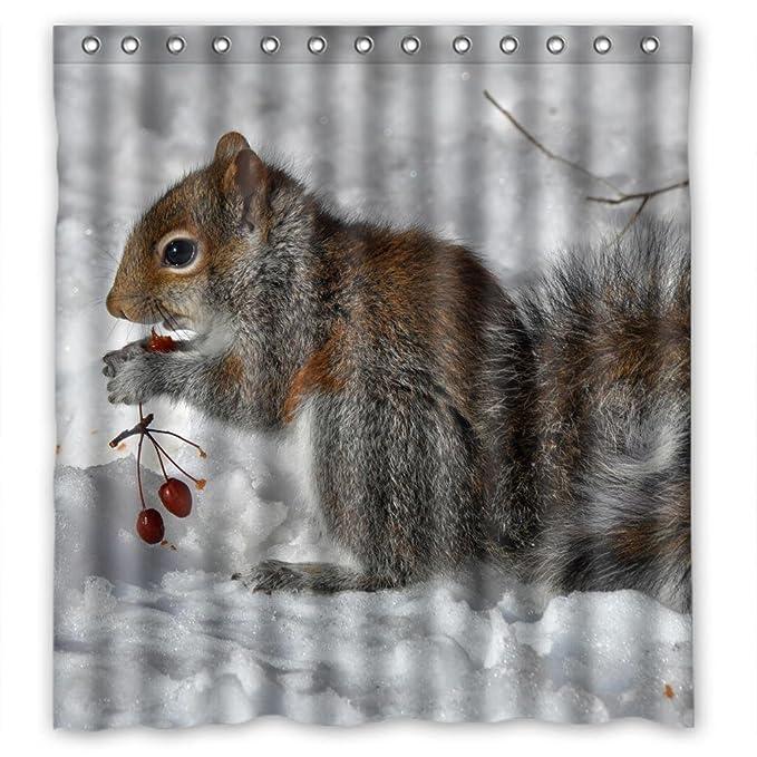 Adorable Squirrel Shower Curtain Measure 66quot