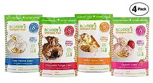 Gluten Free Cake Mix - Mug Cake Mix - Gluten Free Dairy Free Snacks - Vegan Gluten Free Snacks - Vegan Cake Mix And Frosting - Vegan Desserts - Nut Free Food - Buddys Allergen Free Mug Cake - VARIETY