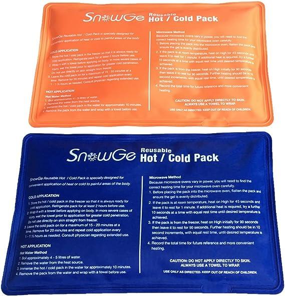 SnowGe Paquete de gel frío caliente para aliviar el dolor de ...
