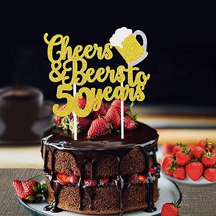 Amazon.com: Faisichocalato Cheers & Beers to 50 años de oro ...