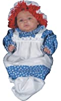 UHC Baby's Raggedy Ann Doll Bunting Infant Fancy Drees Halloween Costume