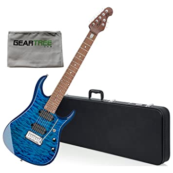 Sterling JP157 NBL John Petrucci 7 cuerdas Guitarra eléctrica Neptune azul w/gamuza de limpieza