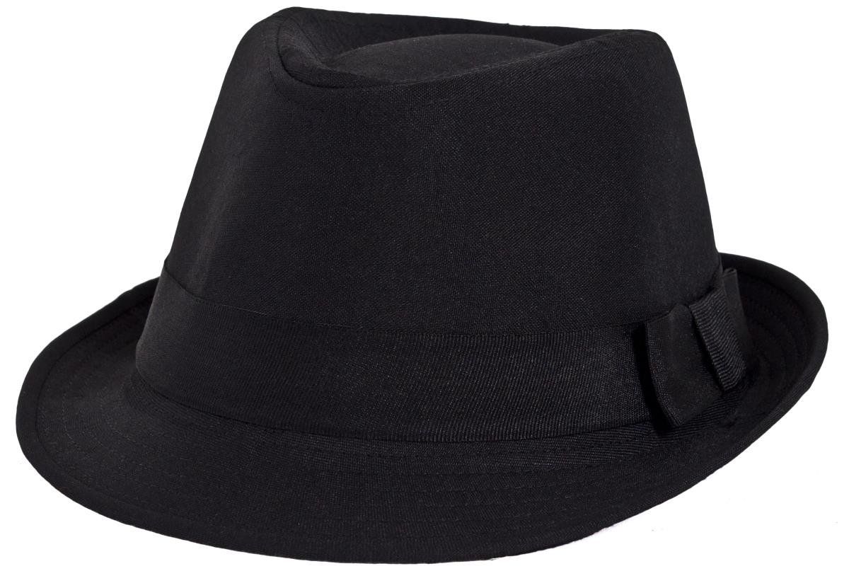 778e775ed3535 ADULTS BLACK CANVAS TRILBY FANCY DRESS ACCESSORY - BLUES STYLE SOFT BLACK  TRILBY IN 58CM SIZE (PACK OF 1)  Amazon.co.uk  Toys   Games
