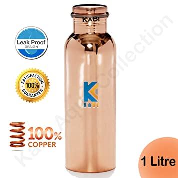 Amazon.com: Botella de cobre puro de KaBi-Made de cobre ...