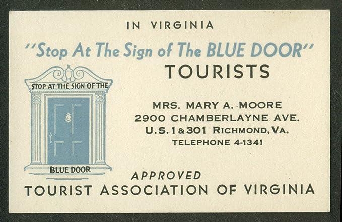 Amazon the blue door tourist home richmond va business card the blue door tourist home richmond va business card 1930s reheart Images