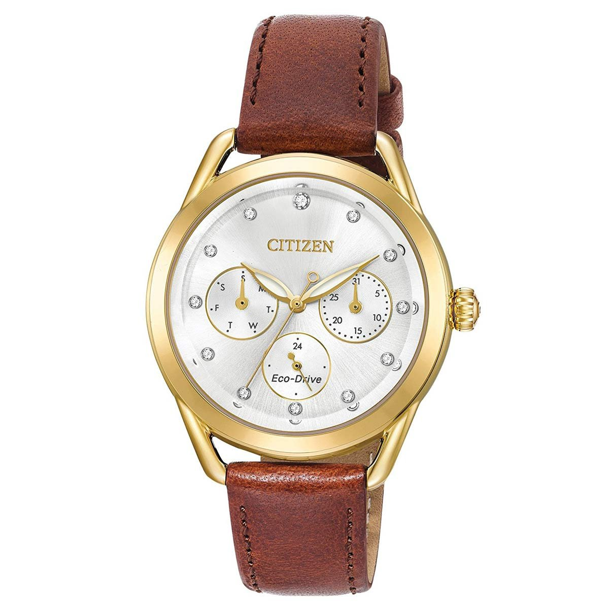 Citizen Watches Women's FD2052-07A Eco-Drive Brown One Size by Citizen