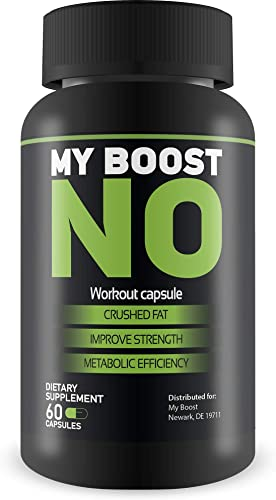 MY BOOST- NO2- Extreme Workout Capsules- Crush Fat- Improve Strength- Increase Metabolic Efficiency