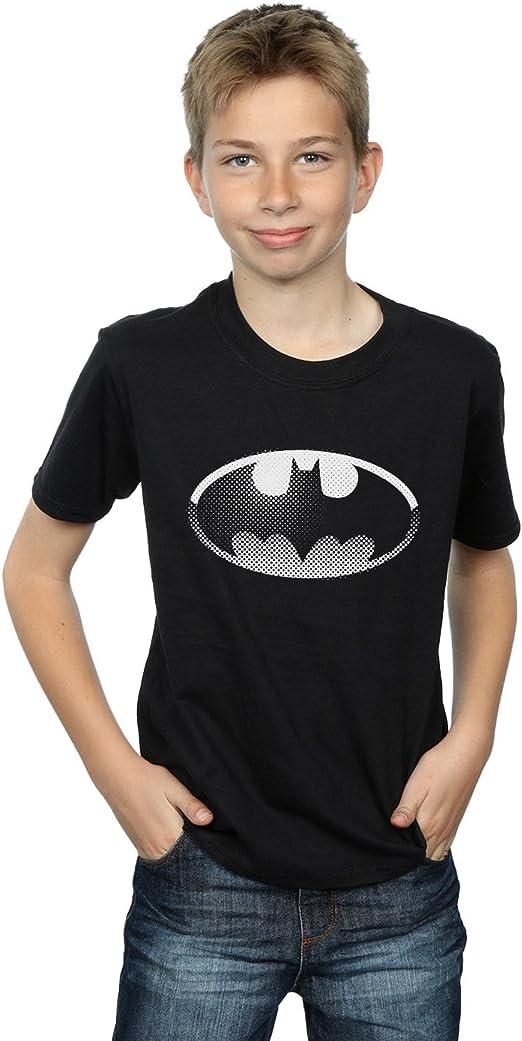 DC Comics niños Batman Spot Logo Camiseta: Amazon.es: Ropa y accesorios