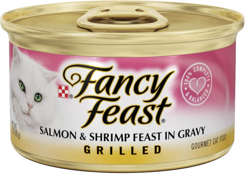 Fancy Feast Grilled Salmon & Shrimp Feast in Gravy Canned Cat Food, 3-oz, case of 24 by Fancy Feast