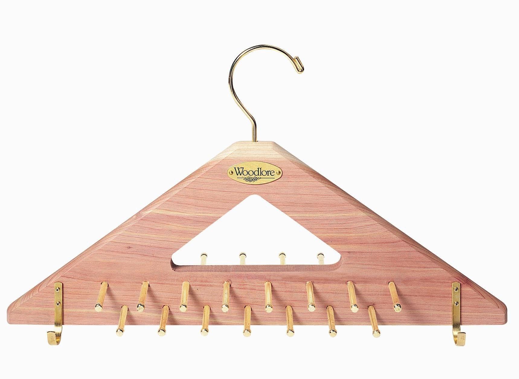 Woodlore Closets Natural Fresh Aromatic Cedar Tie & Belt Hanger by Woodlore