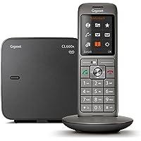 Gigaset CL660A Telefon - Schnurlostelefon/Mobilteil - mit Farbdisplay/Grosse Tasten - Design Telefon/Anrufbeantworter/Freisprechen/Analog Telefon, anthrazit