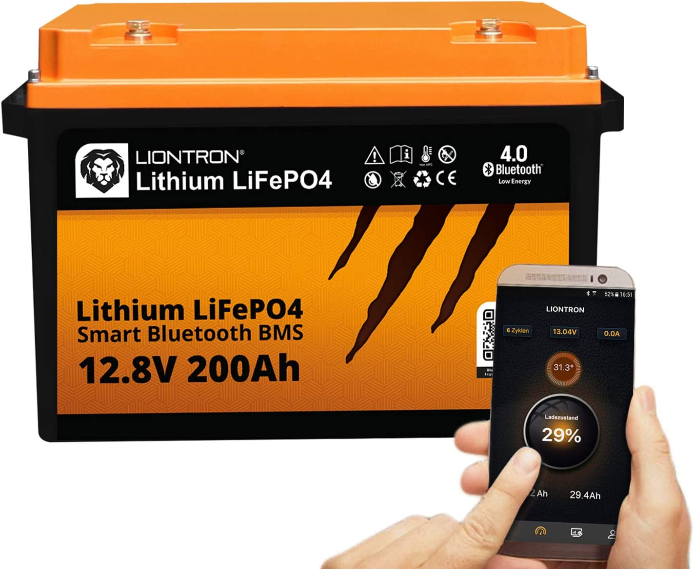 Liontron Lifepo4 12v 200ah Lithium Battery With Smart Elektronik