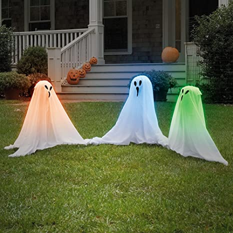 closeoutzone set6 light up color changing haunting ghosts spooky halloween yard dcor