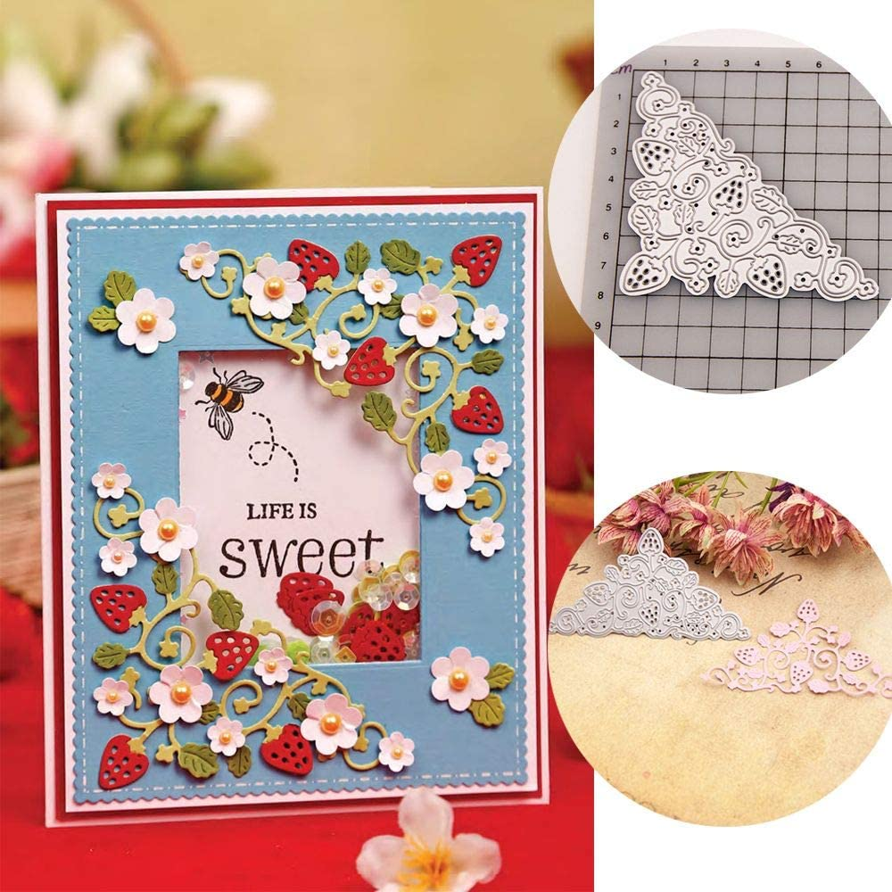 Strawberries Metal Cutting Dies Stencil Scrapbooking DIY Stamp Album Paper Card