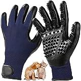 WILWOLF Fellpflege Handschuhe,Haustier Bürste Handschuh zur Einfachen Entfernung Loser Langhaar Kurzhaar Tierhaare Grooming Massagehandschuh für Hund Pferd und Katze Fellbürste Hundehaare Katzenhaare