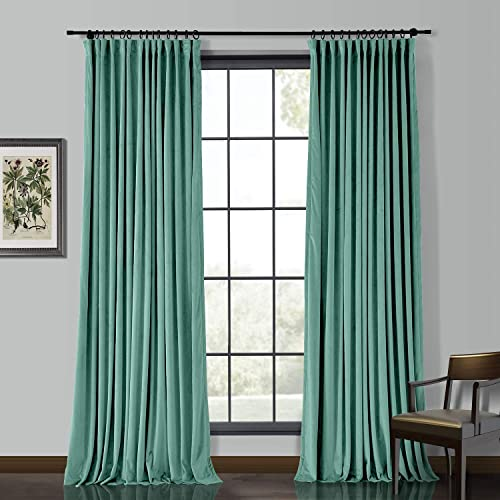 ChadMade Extra Wide 150″ Wx84 L Velvet Curtain Panel