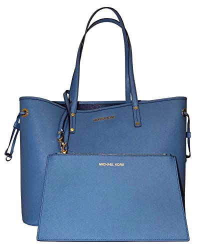 13e079fbde07 Michael Kors Jet Set Travel Large Drawstring Tote (Denim Navy)  Handbags   Amazon.com