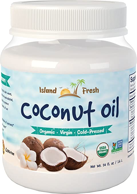 Island Fresh Superior Organic Virgin Coconut Oil, 54 Ounce