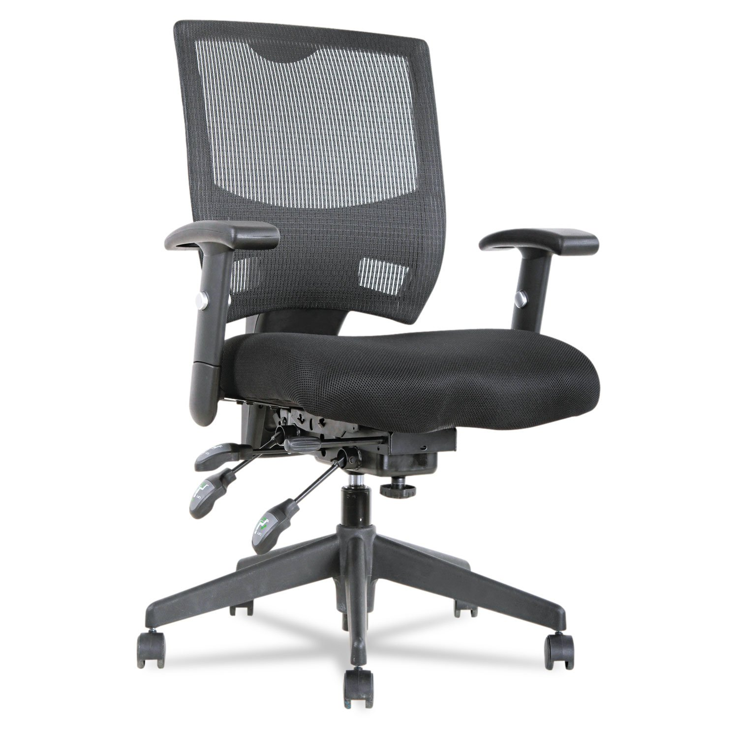 Alera - Epoch Series High Performance Multifunction Chair - Mesh Back-Seat - Black EP4217 (DMi EA