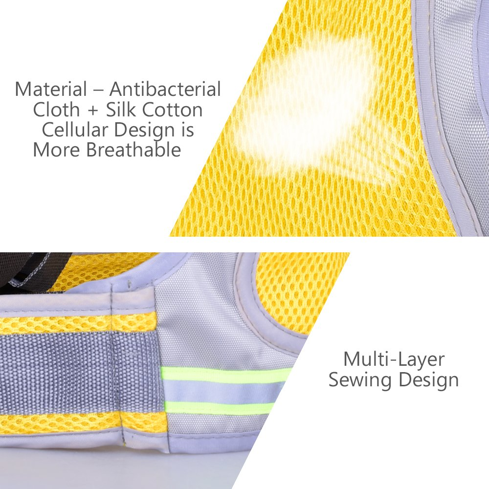 Jolik Child Motorcycle Safety Harness with 4-in-1 Buckle, Breathable Material in Yellow by Jolik (Image #6)