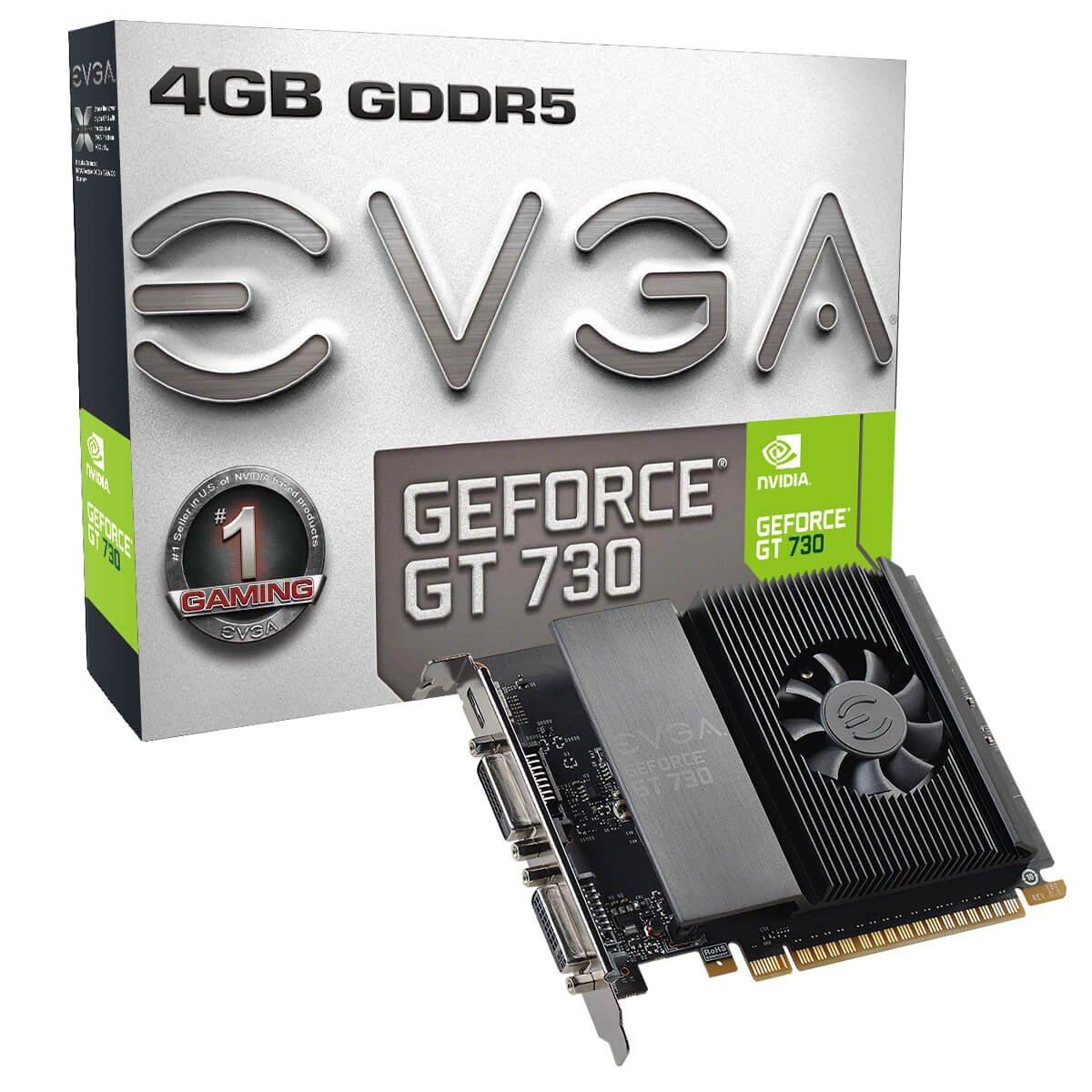 EVGA GeForce GT 730 4GB GDDR5 Single Slot Graphics Card 04G-P3-3739-KR by EVGA