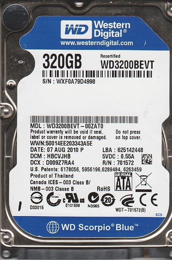 Western Digital WD3200BEVT - Disco Duro (2.5
